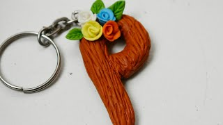 Keychain Clay/ Alphabet/craft/DIY