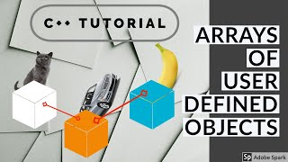 C++ Example 44 - Arrays of user defined objects (classes)