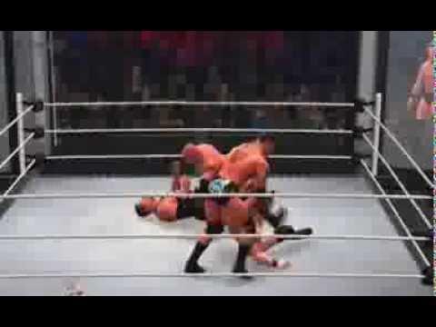 WWE 2K14 Elimination Chamber Match (Goldberg,JBL,HHH,Brock Lesnar, Big Show,Batista)