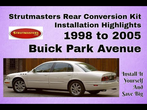 2004 Buick Park Avenue With A Strutmasters Air Suspension Conversion (Rear Install Video)