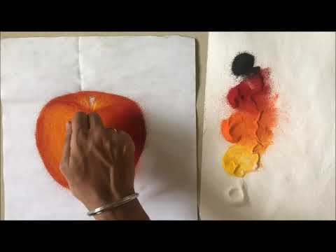 learn portrait rangoli design apple by ganesh khare