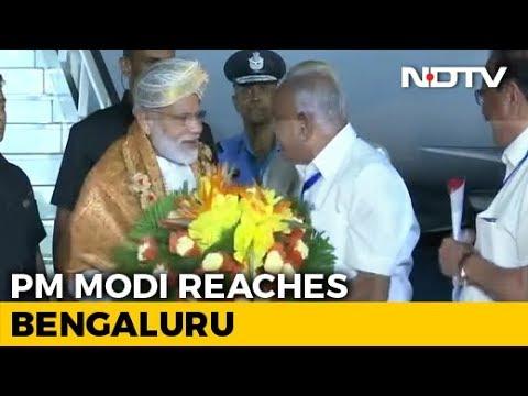PM Modi Reaches Bengaluru To Watch Chandrayaan 2's Moon Landing At ISRO