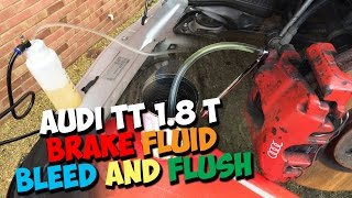 AUDI TT MK1 BRAKE FLUID FLUSH AND BLEED