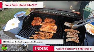 ENDERS Gasgrill Boston Pro 4 KR Turbo II // WATT EIN GASGRILL! Knallerpreis! Ist der Grill gut?#P016