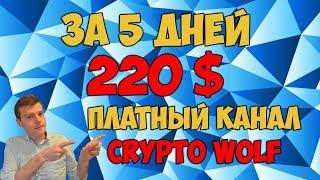 😎Торговля криптовалютой по сигналам 💰за 5 дней 220 долларов. 🚀Платный канал Crypto Wolf