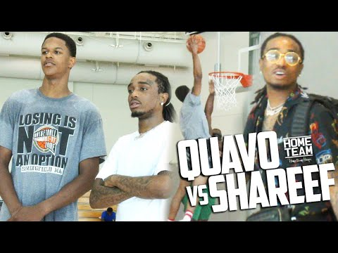 Quavo, Shareef O'Neal & Friends Hoop In Los Angeles