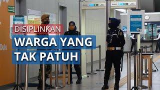 Siap Disiplinkan Warga, 12 Personel TNI Bersiaga di Stasiun MRT Blok M BCA