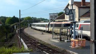 preview picture of video 'BB 67482 et 67609 en tête du Corail Lunea n°4348 (Cerbère - Luxembourg)'
