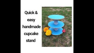 Handmade Cupcake Stand | Stepwise DIY Cupcake Stand |