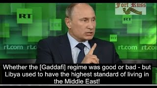 Putin General Wesley Clark on destruction of the Middle East Video