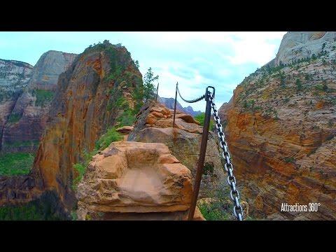 Angel's Landing - Scariest Hike in America? Sheer Drop off - Zion National Park, Utah