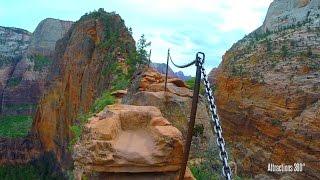 Angel's Landing - Scariest Hike in America? Steep Drop off - Zion National Park, Utah
