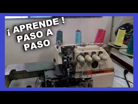 como enhebrar la  OVERLOCK 5 HILOS PASO A PASO | mecanica confeccion