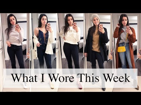 What I Wore This Week | Transitional Fall to Winter Outfit Ideas ft. Aritzia, Thrifted
