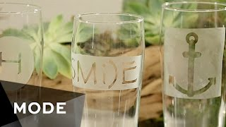 DIY Etched Glasses | Glam It Yourself ★ Mode.com