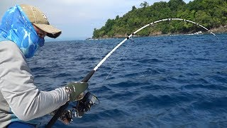 FISHING IN PARADISE!!! What is caught on spinning in the Pacific?! First episode.