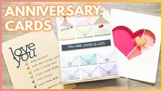 3 Fun Handmade ANNIVERSARY Card Ideas For Your Boyfriend or Husband