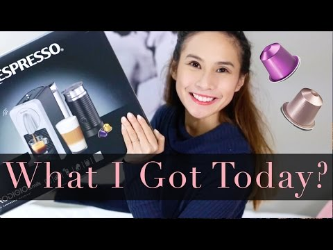 Unboxing + Set up + Review of Nespresso Prodigio & Milk Coffee Machine! BEST COFFEE MACHINE EVER!!
