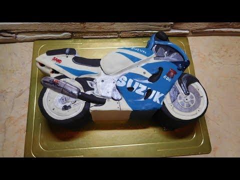 Как приготовить торт в форме мотоцикла