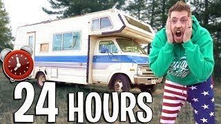 24 HOUR OVERNIGHT RV SURVIVAL CHALLENGE!