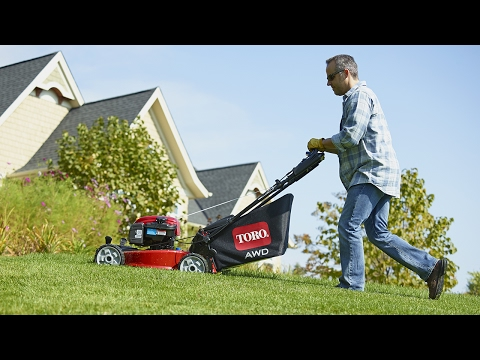 Toro Recycler 22 in. Briggs & Stratton 163 cc AWD in Francis Creek, Wisconsin - Video 1