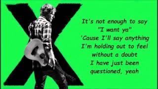 Touch And Go - Ed Sheeran [Lyrics]