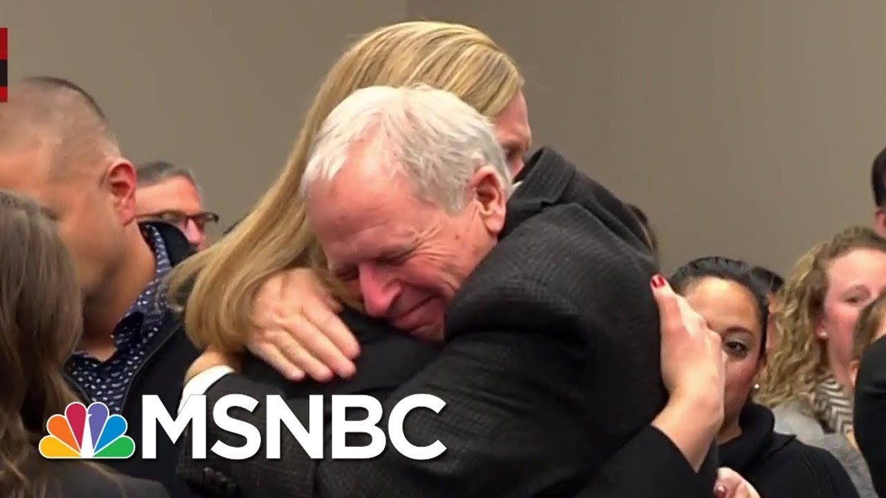 Watch Courtroom Erupt In Applause After Larry Nassar Sentencing | MSNBC thumbnail