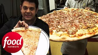 "Adam Battles To Finish 30"" Big Pie In The Sky Pizza Challenge 