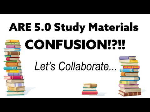 ARE 5.0 Study Materials - CONFUSION!?!! Let's ... - YouTube
