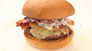 Nick's Steak Burger with Pancetta, Cheese & Slaw