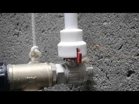 Слив воды из дома в колодец - 1