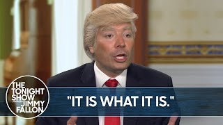 Trump's Train-Wreck Interview with Jonathan Swan on HBO | TheTonightShow