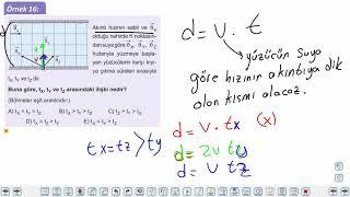 Eğitim Vadisi 11.Sınıf Fizik 3.Föy Bağıl Hareket 3 (Nehirdeki Hareket 2) Konu Anlatım Videoları