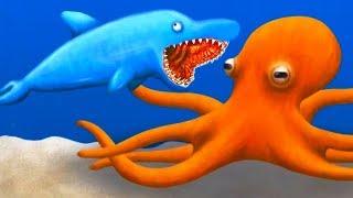 #3 ПРИКЛЮЧЕНИЕ ГОЛОДНОЙ РЫБЫ Дельфин всех проглотил в мульт игре для детей Tasty Blue от ФГТВ
