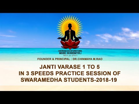 Download Janti Varase 1 To 5 In 3 Speeds Practice Session Of