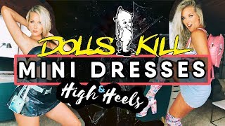 MINI DRESSES & HIGH HEELS | HUGE Dolls Kill TRY ON HAUL