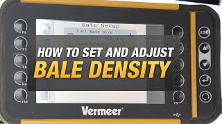 Setting and adjusting density on R-series balers