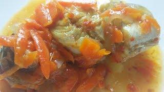 Хек Тушеный с Овощами с Томатом. Как Вкусно Приготовить Рыбу.(Постное Блюдо)