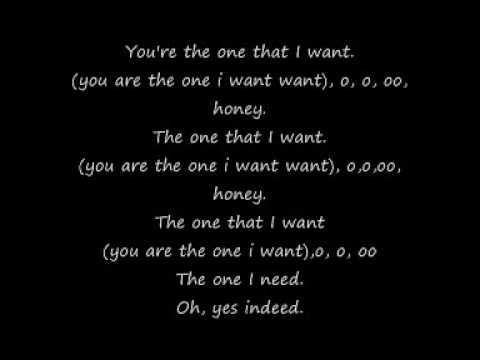 Grease - You're The One That I Want * Lyrics *