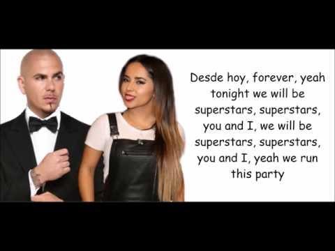 Pitbull ft. Becky G -  Superstar (lyrics)