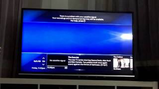 Sky Q box technical fault and signal problem