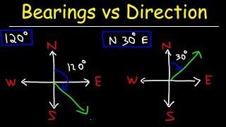 Bearings Vs Direction - Trigonometry Word Problems
