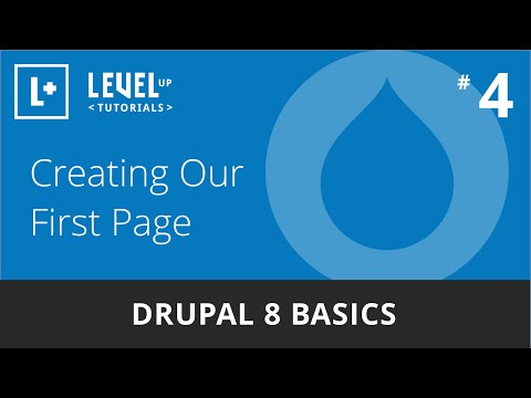 Drupal 8 Basics #4 - Creating Our First Page