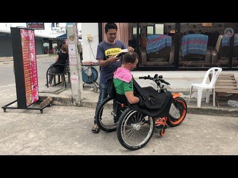 Rollstuhl Friseur Thailand