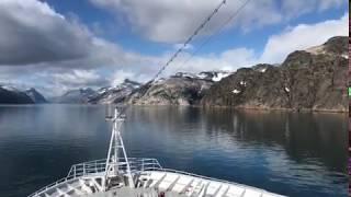 MS Hamburg: Fahrt durch den Prins Christian Sund