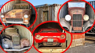 What can be found in a sea container? A real treasure! Chevrolet 1955, Lancia Stratos, Ford 1932