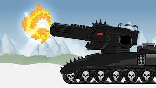 """Cartoon about tanks """"Iron monster KV88 vs Hyper One"""""""