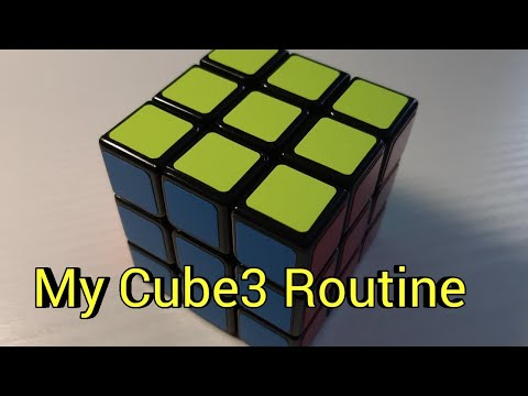 Meine Cube3 Routine/Performance