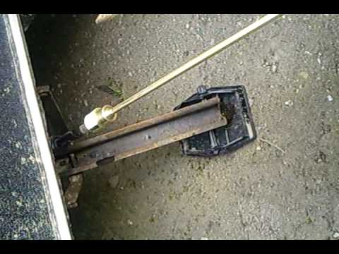 Kurbelstützen Wohnwagen udn der Akkuschrauber