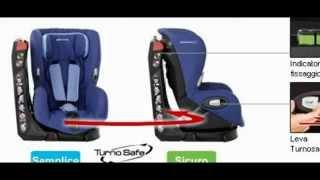 preview picture of video 'Seggiolino auto Maxi Cosi Axiss (gruppo 1): il seggiolino auto che ruota a 90°!'